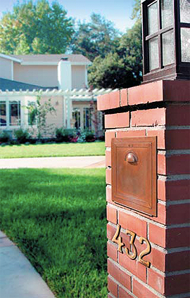 Recessed Brass Mailboxes Mailboxes Residential