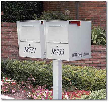 Double Oasis Mailboxes Locking - Mailboxes Residential