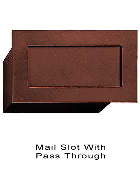 Mail Slot With P Through Br Bronze Finish