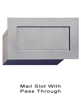 Mail Slot With P Through Br Aluminum Finish
