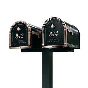 2 coronado u003ewith standard postu003cbr u003eand spreader - Locking Mailboxes