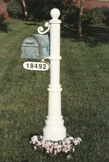 unique residential mailboxes. Westchester Mailbox - Patina Newport Post White Address Plaque White/Black Unique Residential Mailboxes R