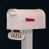 Special Lite Mailbox - Floral Leaf-White