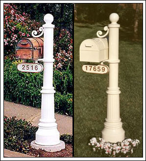 decorative commercial mailboxes postmount streetscape - Decorative Mailboxes