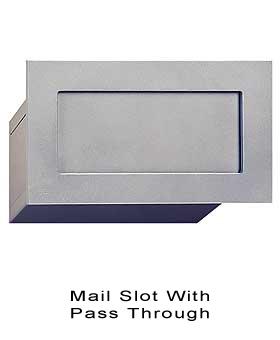 Mailbox door slots