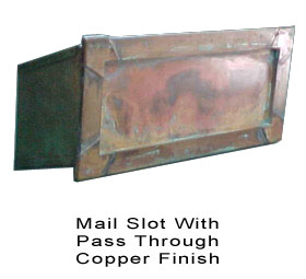 Mail Slot With P Through Br Solid Copper Finish