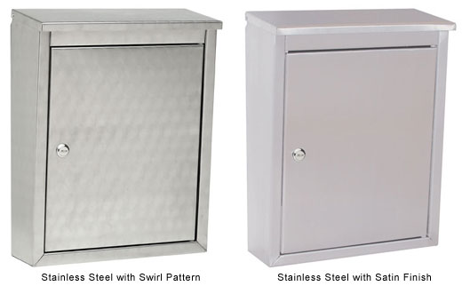 Stainless Steel Wall Mount Br Locking Mailbox